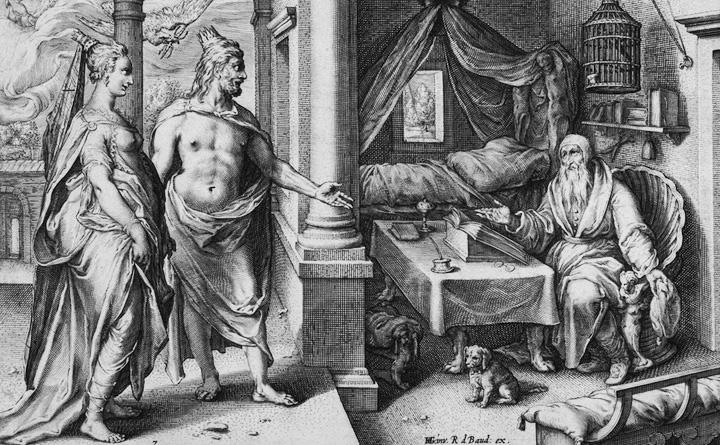 Hendrick Goltzius - Tiresias Conversing with Juno and Jupiter